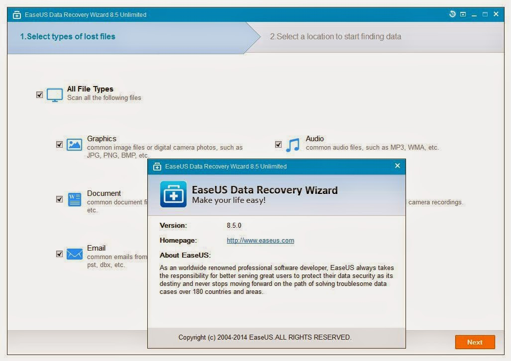 Download Software Full Version: EaseUS Data Recovery